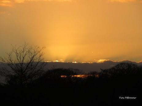 De zon lichtte heel mooi bij