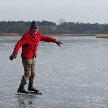 Kijk eens ..., ik schaats op de Vennen