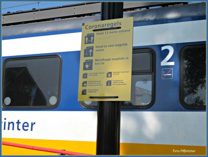 Mondkapje verplicht in de trein