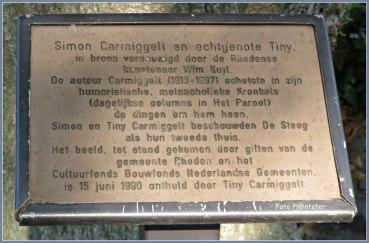 In het brons vereeuwigd op een bankje in Rheden