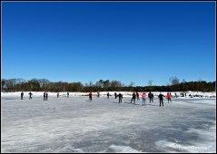 Even op het ijs gelopen