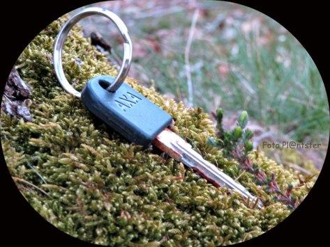 Is de sleutel verloren dan staat de fiets op slot.