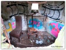 Met graffiti beklad om zich op te houden