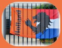 Vlaggen met bedrukt logo Holland. Na afloop van EK voetbal is er geen vlag meer nodig om bedrukt te zijn . Maak je niet zo druk.... mens erger je niet!